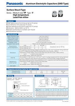 Panasonic TP Medium Size Series Aluminum Capacitors