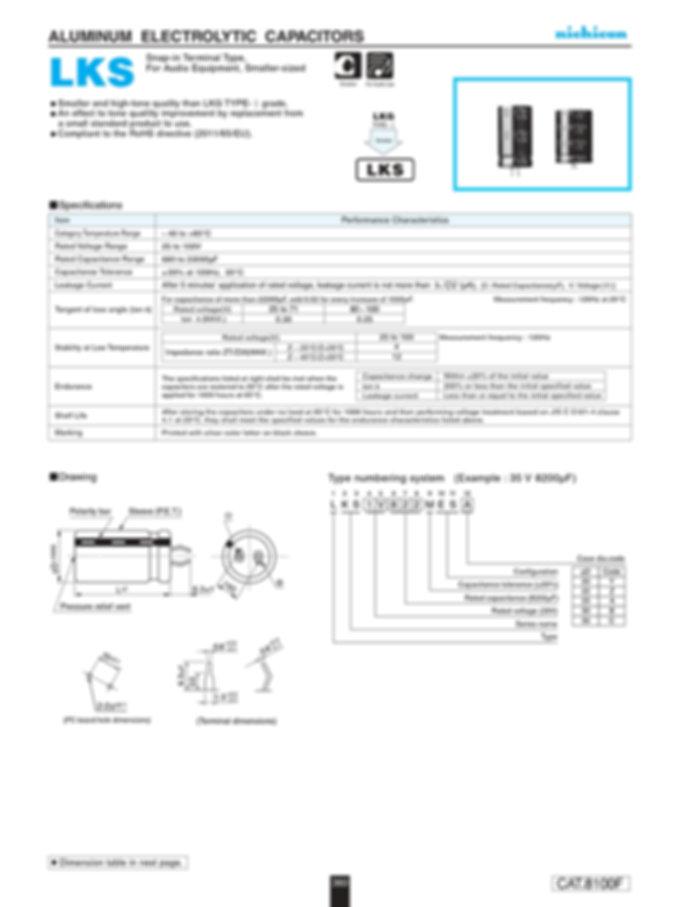 Nichicon LKS Series Aluminum Capacitors