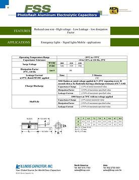 Illinois Capacitor FSS Series Radial Aluminum Electrolytic Capacitors