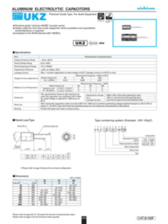 Nichicon UKZ Series Aluminum Capacitors
