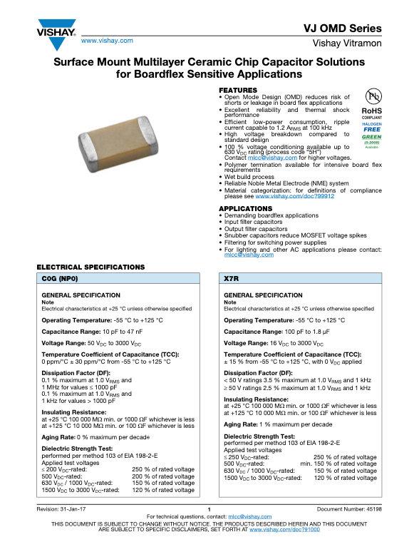 Vishay VJ OMD Series MLC Capacitors