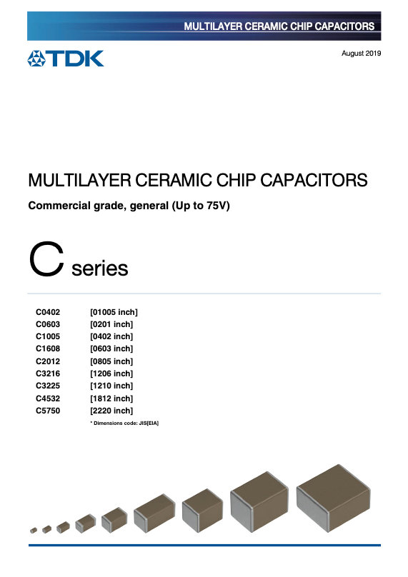 TDK C Series Low Voltage MLC Chip Capacitors
