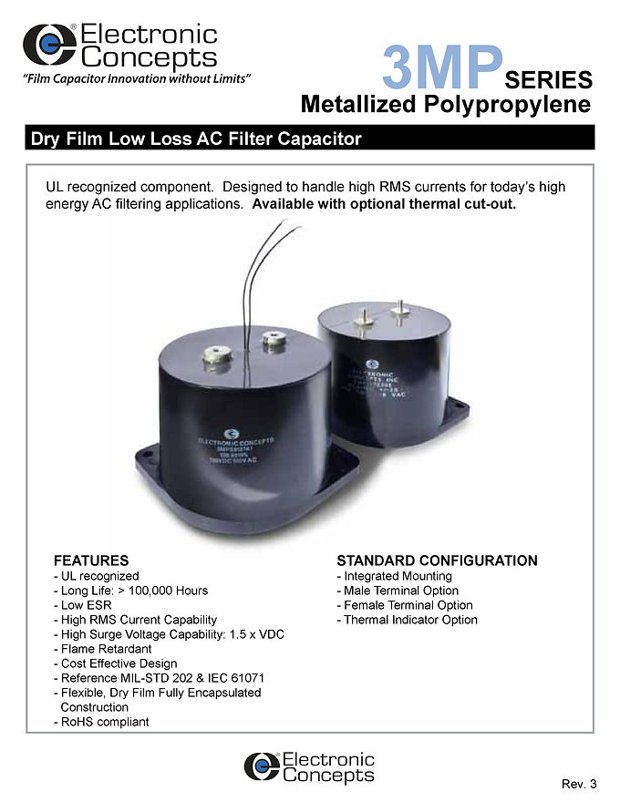 Electronic Concepts 3MP Series Polypropylene Capacitors