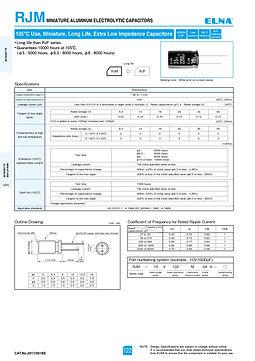Elna RJM Series Aluminum Electrolytic Capacitors