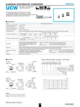 Nichicon UCW Series Aluminum Capacitor