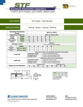 Illinois Capacitor STF Series Radial Aluminum Electrolytic Capacitors