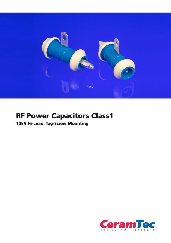 CeramTec Tubular Type RF Power Ceramic Capacitors