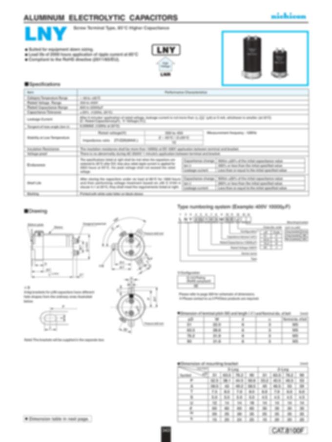 Nichicon LNY Series Aluminum Capacitors