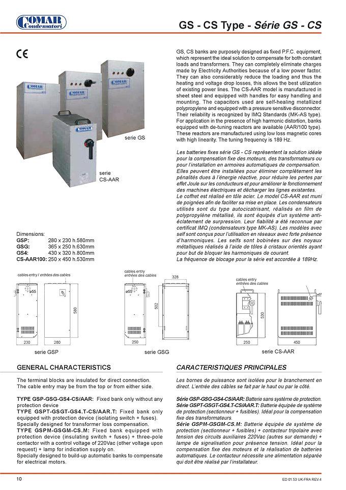 Comar Power Factor Correction Capacitors