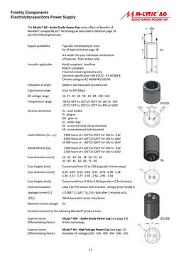 Mundorf M-Lytic AG Series Aluminum Capacitors