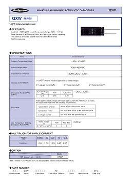 Rubycon QXW Series Radial Aluminum Electrolytic Capacitors