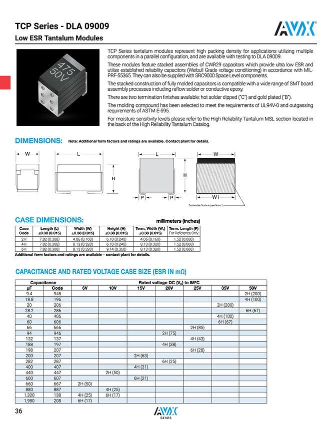 AVX TCP Series Tantalum Capacitor Modules