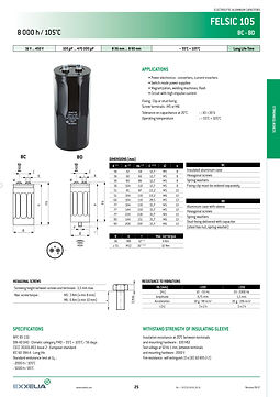SIC SAFCO FELSIC 105 Series Aluminum Capacitors