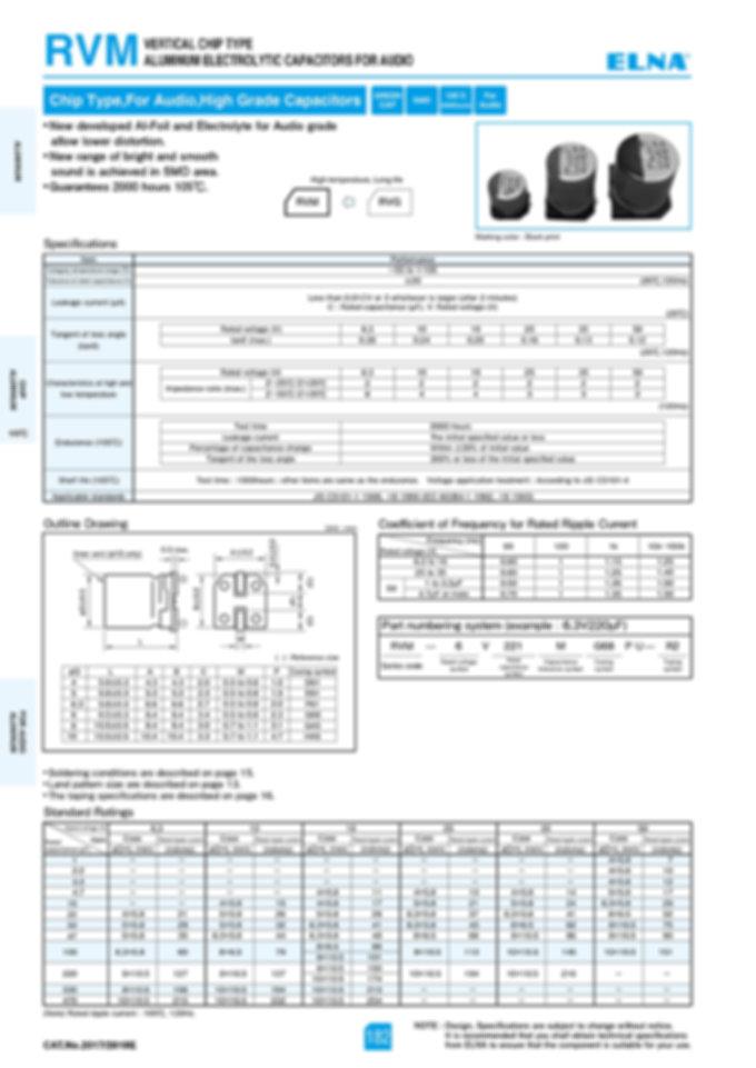 Elna RVM Series Aluminum Electrolytic Capacitors