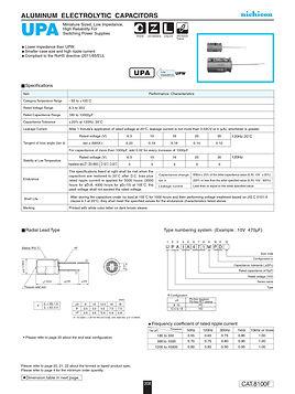 Nichicon UPA Series Aluminum Capacitors