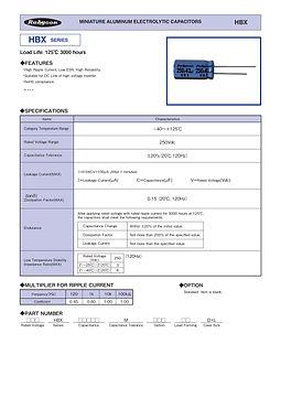 Rubycon HBX Series Aluminum Electrolytic Capacitors