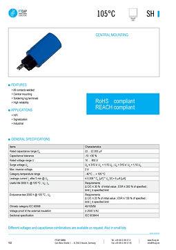 Fischer & Tausche SH Series Aluminum Capacitors