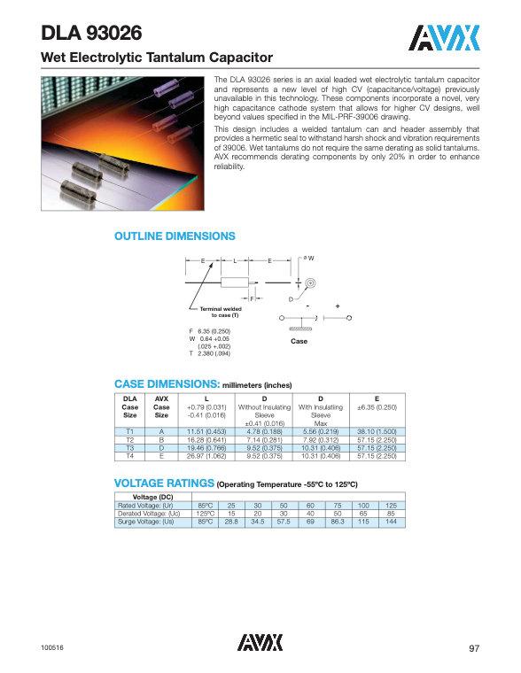 AVX DLA 93026 Series