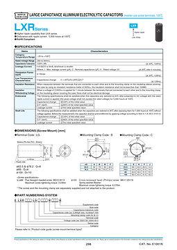 Nippon Chemi Con LXR Series Aluminum Electrolytic Capacitor