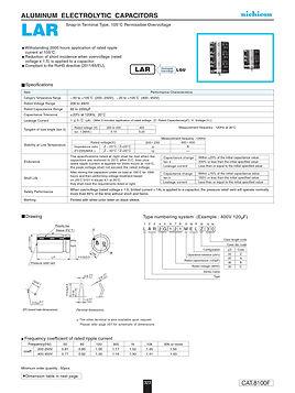 Nichicon LAR Series Aluminum Capacitors