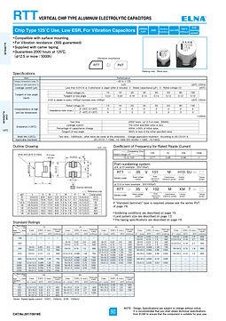 Elna RTT Series Aluminum Electrolytic Capacitors