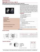 Cornell Dubilier HZA_V Series Capacitor Data Sheet