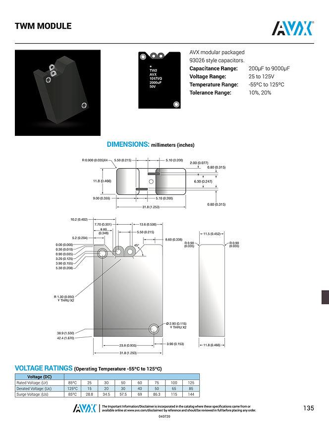AVX TWM Capacitor Modules