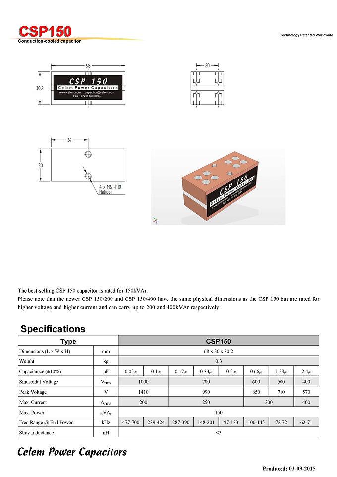 Celem CSP150 Series Film Capacitors