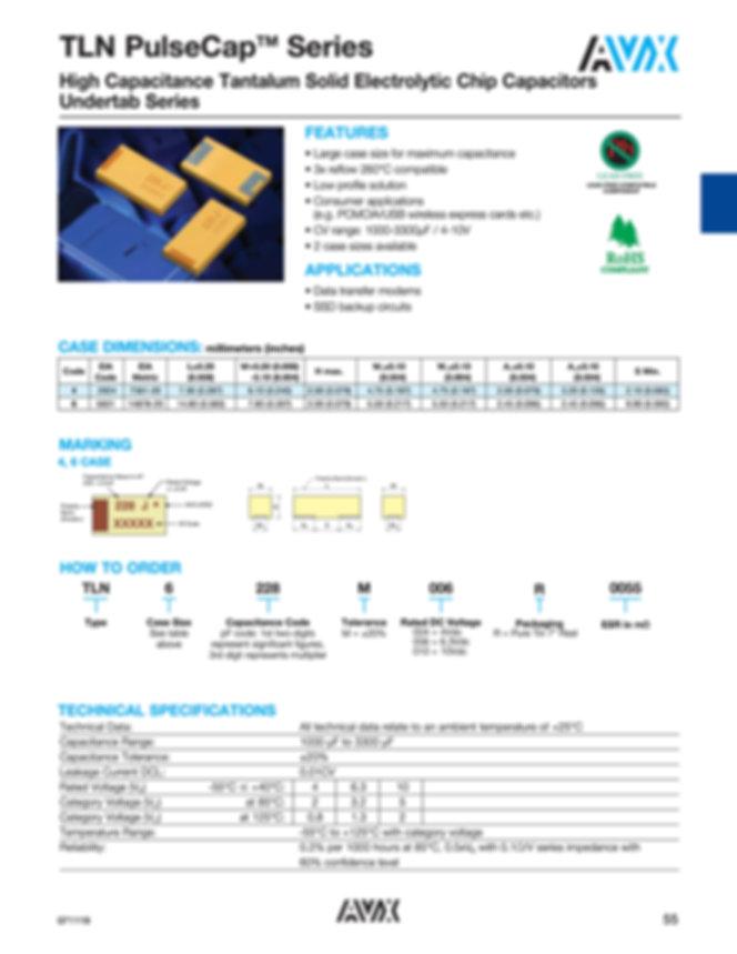 AVX TLN Pulsecap™ Series Tantalum Capacitors