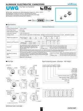 Nichicon UWG Series Aluminum Capacitors