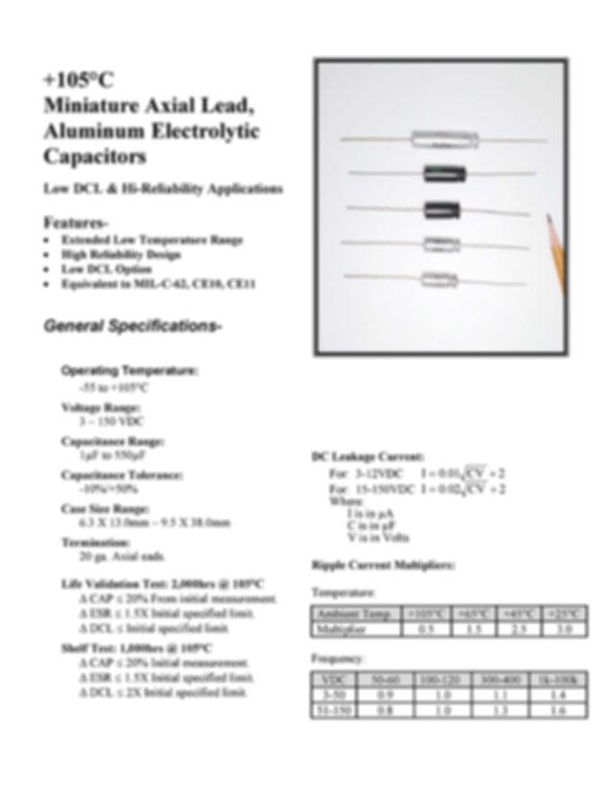 BMI 40D Series Aluminum Capacitors