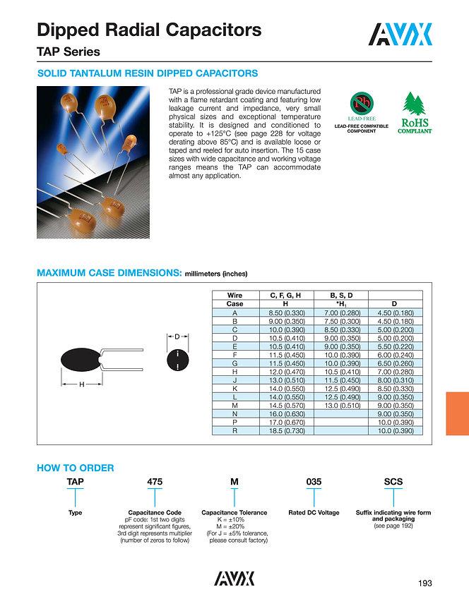 AVX TAP Series Tantalum Capacitors