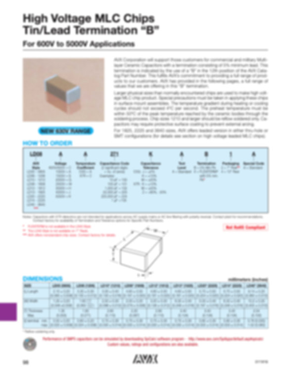 AVX LD Series MLC Capacitors