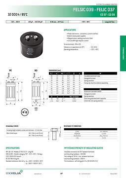 SIC SAFCO FELSIC 039 Series Aluminum Capacitors