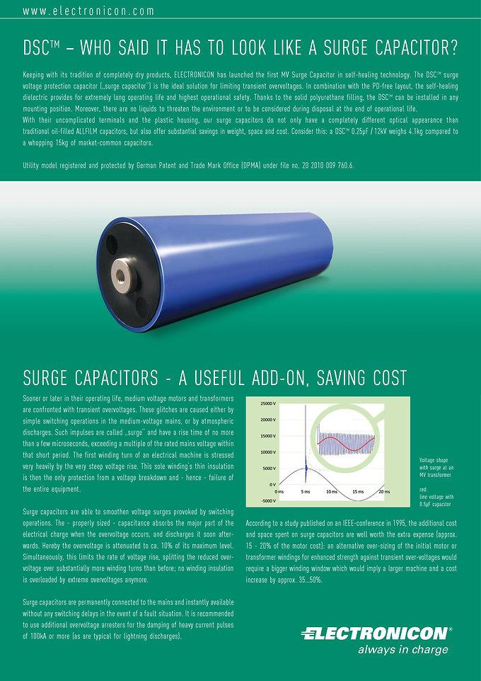 Electronicon DSC Series Surge Voltage Capacitors