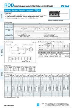 Elna ROB Series Aluminum Electrolytic Capacitors