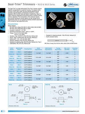 Johanson Manufacturing Seal Trim Ceramic Trimmer Capacitors