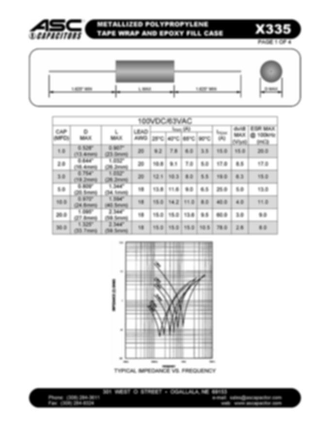 ASC X335 Series Film Capacitors