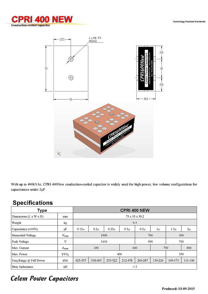Celem CPRI 400 NEW Series Film Capacitors