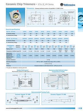 Voltronics Ceramic Chip Trimmers