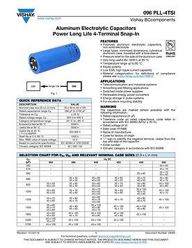 Vishay 096 PLL-4STI Series Aluminum Electrolytic Capacitors