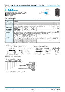 Nippon Chemi Con LXQ Series Aluminum Electrolytic Capacitors