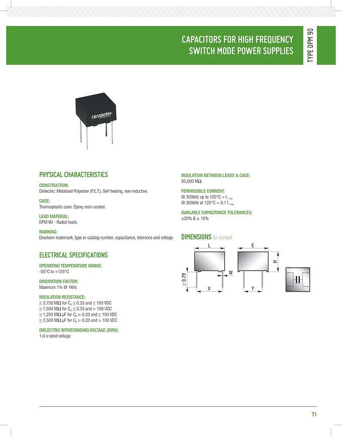 Dearborn DPM 90 Series Film Capacitors
