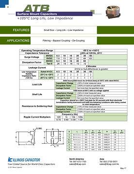 Illinois Capacitor ATB Series Aluminum Capacitors