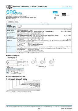 Nippon Chemi Con SRG Series Aluminum Electrolytic Capacitors