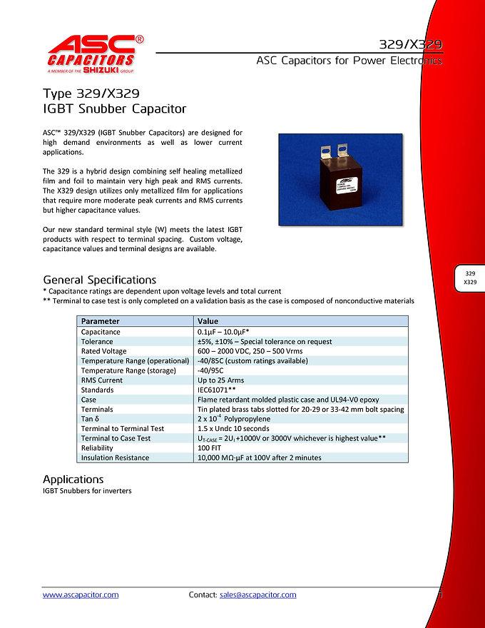 ASC 329 Series Snubber Capacitors
