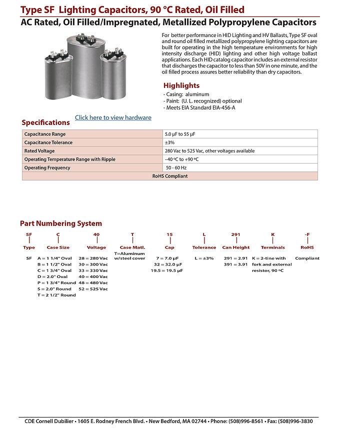 CDE Lighting Capacitors
