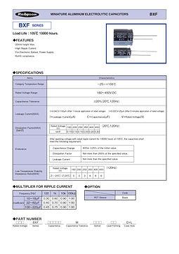 Rubycon BXF Series Radial Aluminum Electrolytic Capacitors