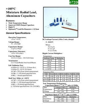 BMI 672D Series Aluminum Capacitors