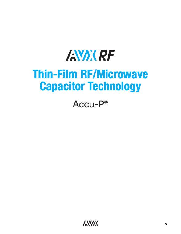 AVX Accu P Thin Film Capacitors
